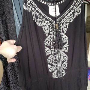 Black Knox Rose maxi dress with embroidery
